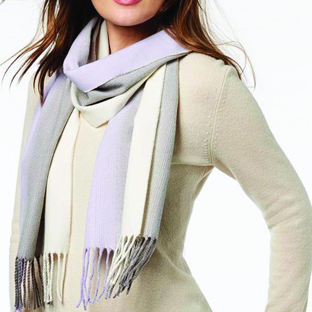 Calvin Klein Ombre Lavender Striped Woven Scarf