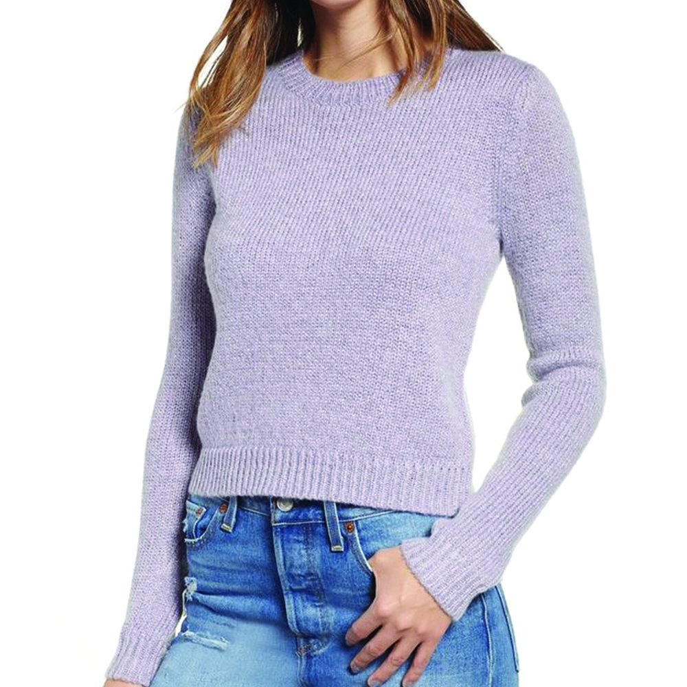 Leith Lavender Metallic Purple Frost Sweater