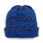 Rebecca Minkoff Blocked Yarn Cobalt Blue Slouchy Beanie