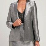 Starshine Metallic Silver Blazer