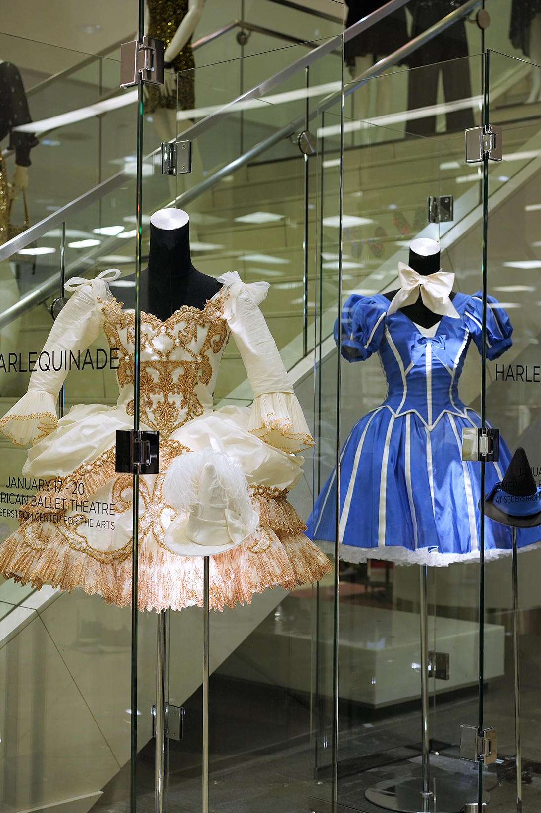American Ballet Theatre Harlequinade Costumes on Display at Bloomingdales Fashion Island