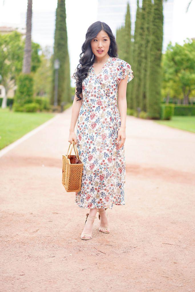 Francesca's Sylvia Floral Midi Dress