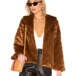 Amuse Society Faux Fur Ever Mine Jacket in Camel