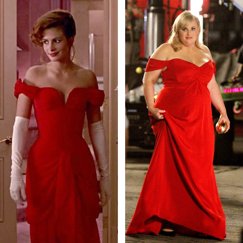 Isn't It Romantic Red Dress: Julia Roberts in Pretty Woman and Rebel Wilson
