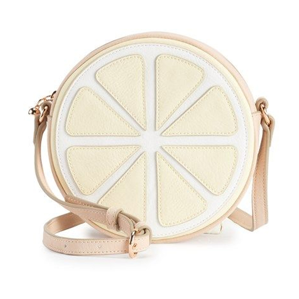 LC Lauren Conrad Round Lemon Crossbody Handbag