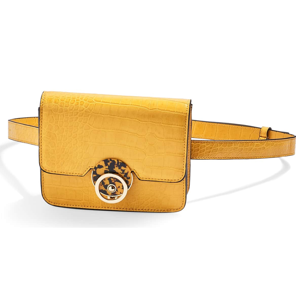 Topshop Yellow Dazzler Belt Bag
