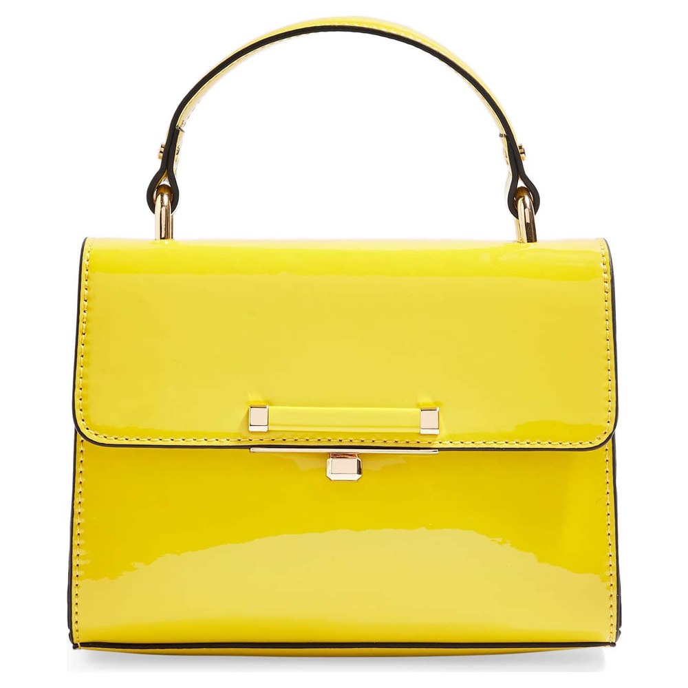 Topshop Mini Marissa Top Handle Bag in Yellow