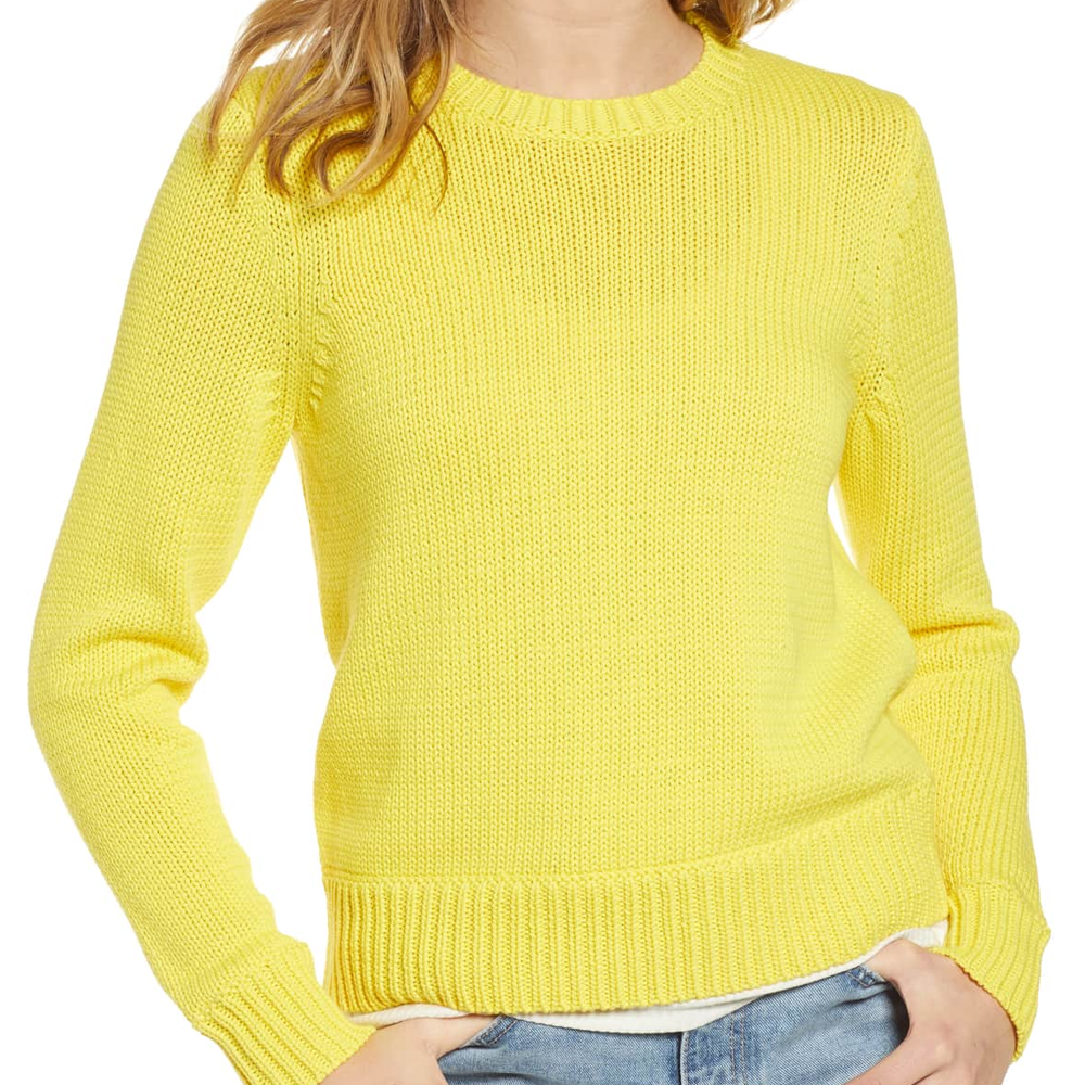 Treasure & Bond Crewneck Sweater in Yellow Butter