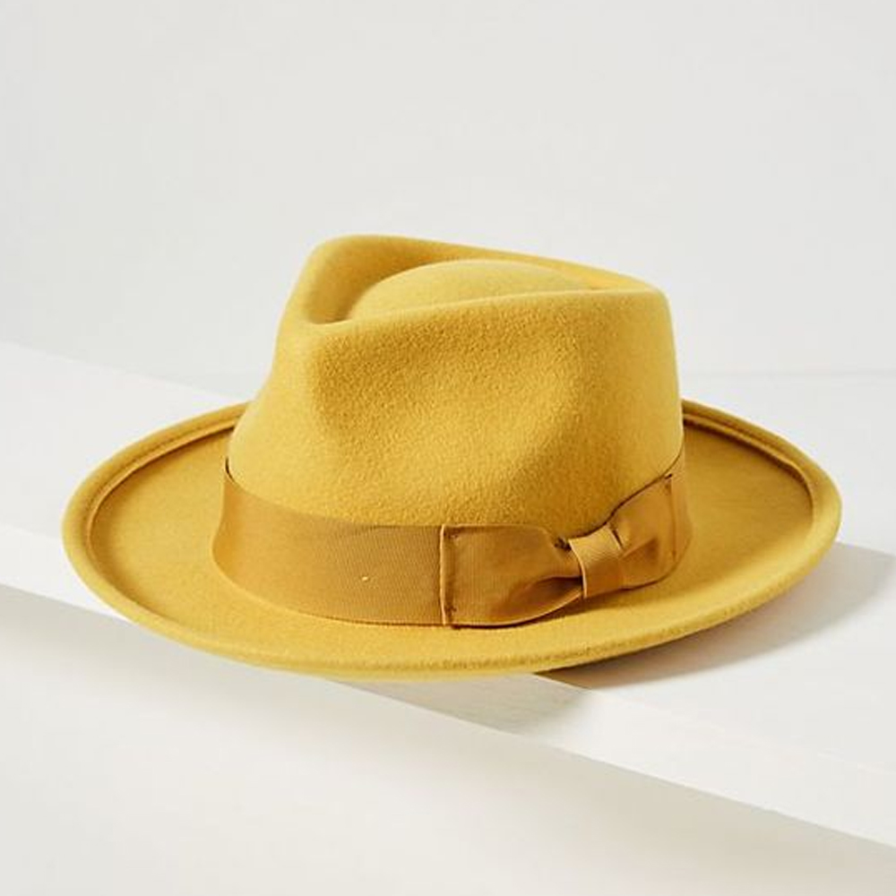 Abbie Yellow Fedora by WYETH
