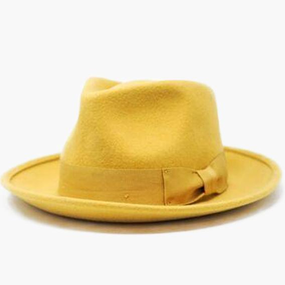WYETH Yellow Short Brim James Fedora