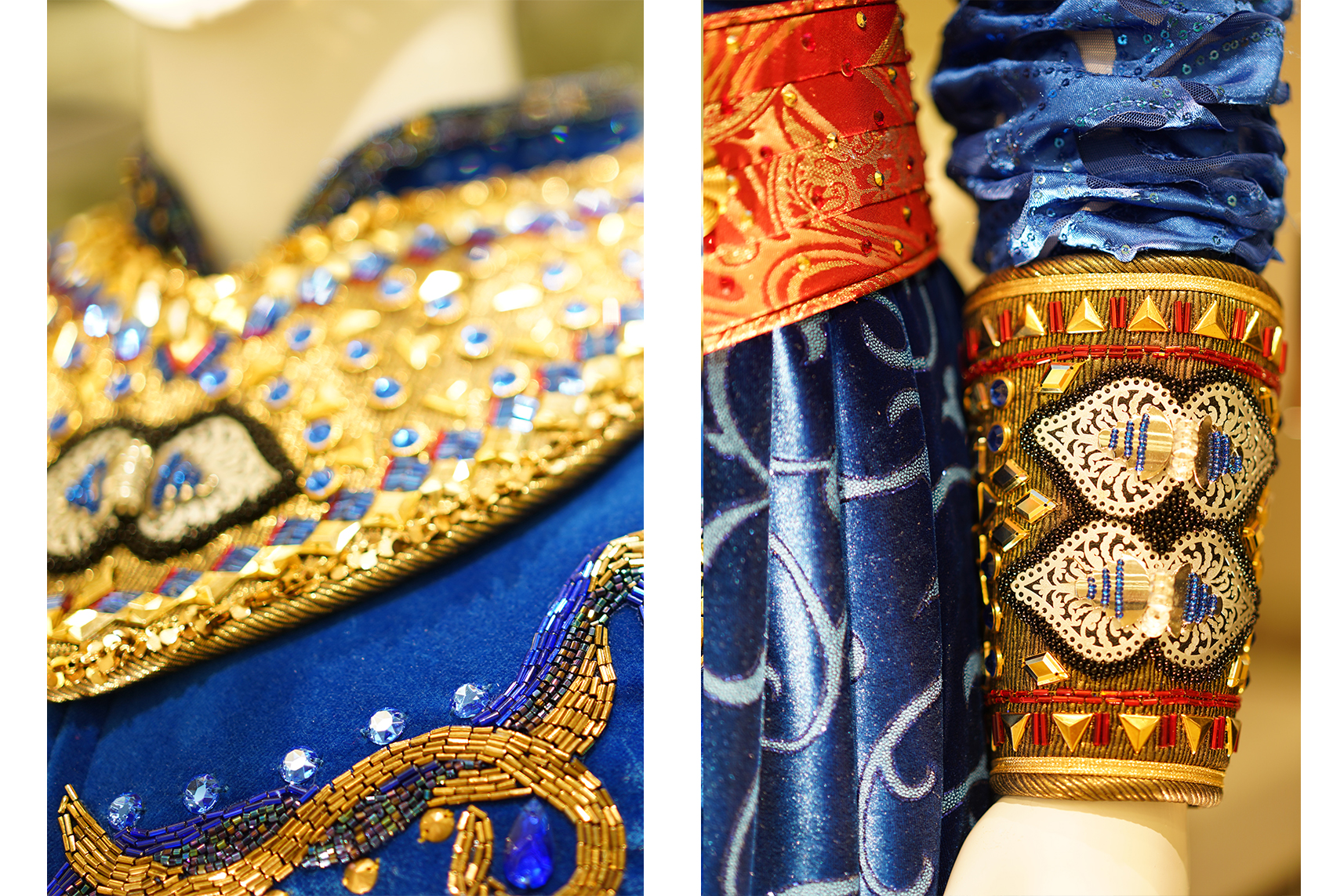Aladdin Broadway Musical Genie Costume Detail