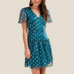 Francesca's Mariana Shine Skater Dress
