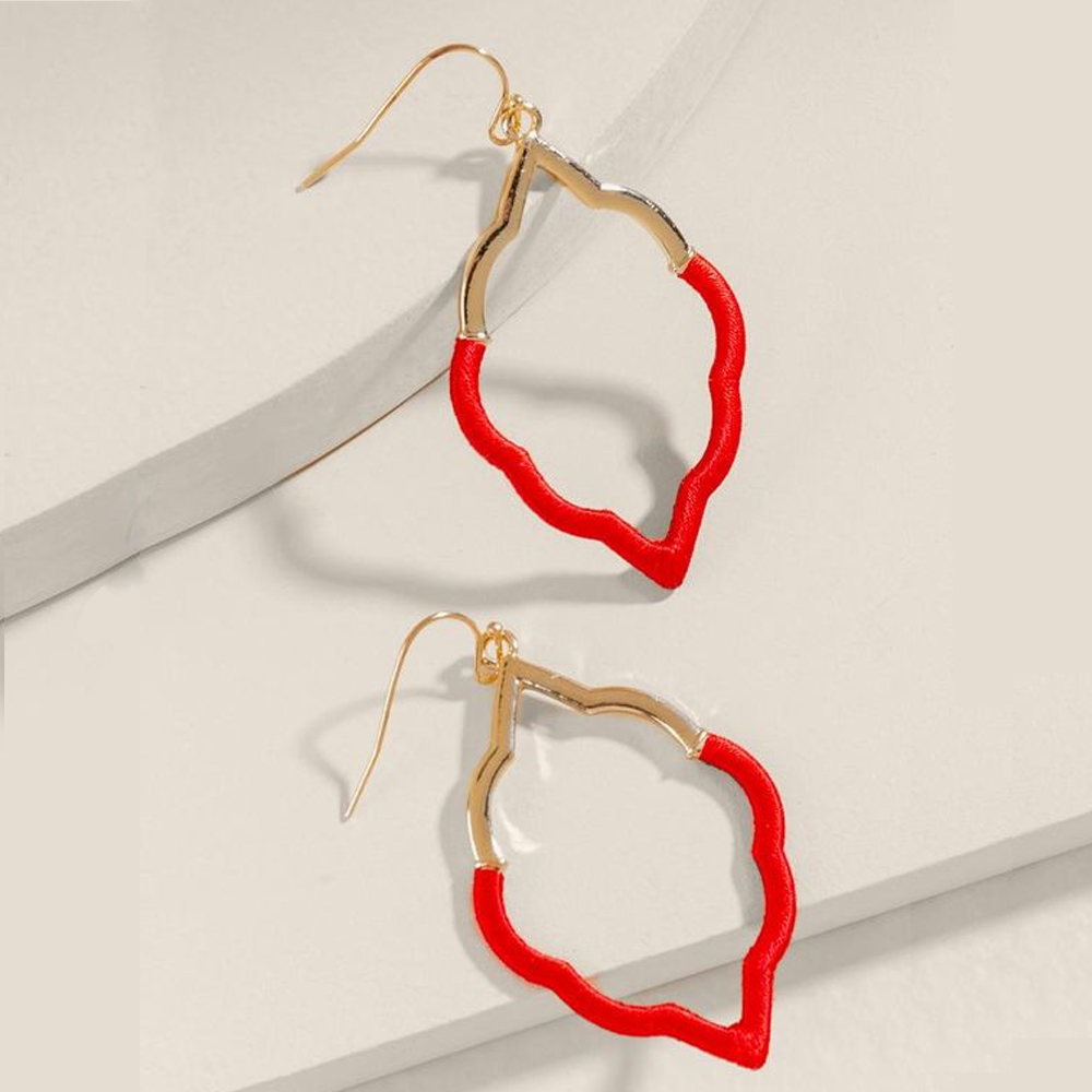 Francesca;s Valentina Thread Wrap Earrings in Red