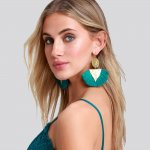Lulu's Coconut Coast Teal Tassel Earrings