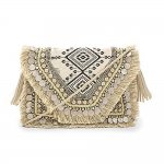 Shashi Alexa Embroidered Clutch