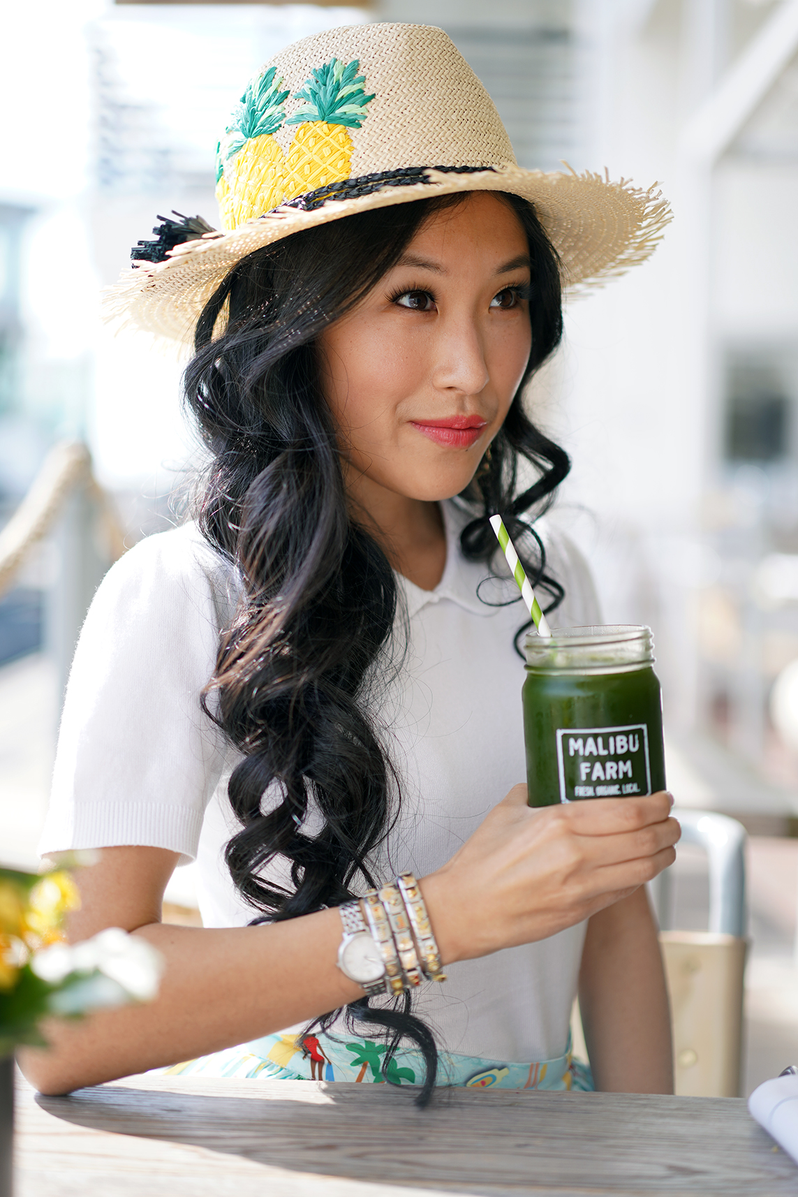 Malibu Farms Green Kale Drink, Unique Vintage Collectif Ivory Sweater Knit Short Sleeve Wendy Top, Nomination Bracelets