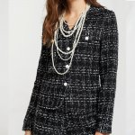 Storets Blanche Tweed Black Blouse