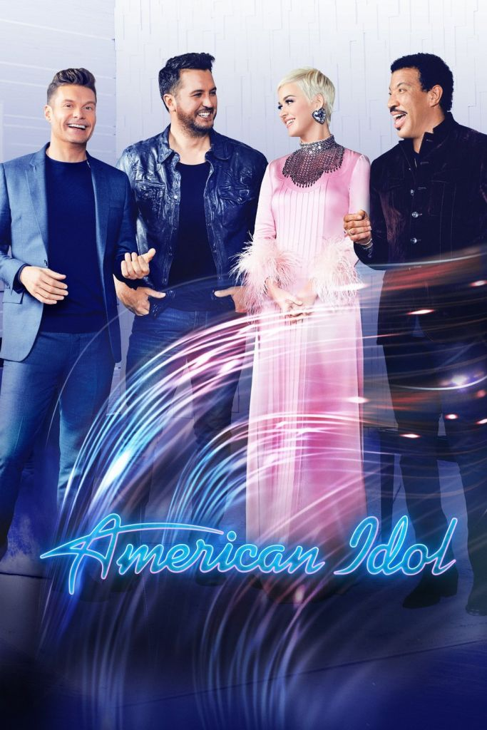 American Idol Season 2 Poster with Ryan Seacrest, Luke Bryan Katy Perry and Lionel Richie
