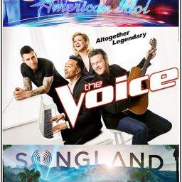ABC's American Idol Season 2 Finale, NBC The Voice Season 16 Finale, NBC Songland Premiere Posters