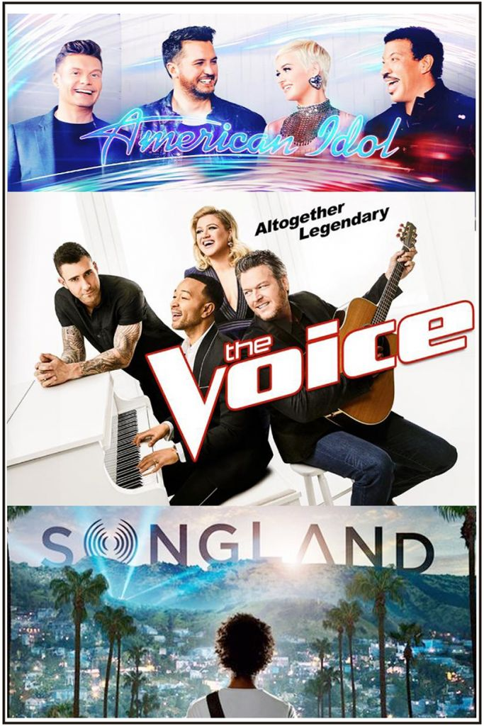 ABC's American Idol Season 2 Finale, NBC The Voice Season 16 Finale, NBC Songland Premiere Posters
