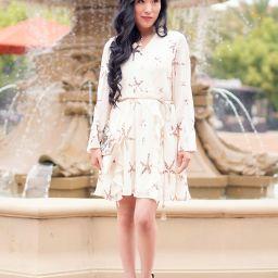 Selfie Leslie Riley Star Wrap Dress, Starfish Dress, Sequin Mermaid Dress, Starfish headband