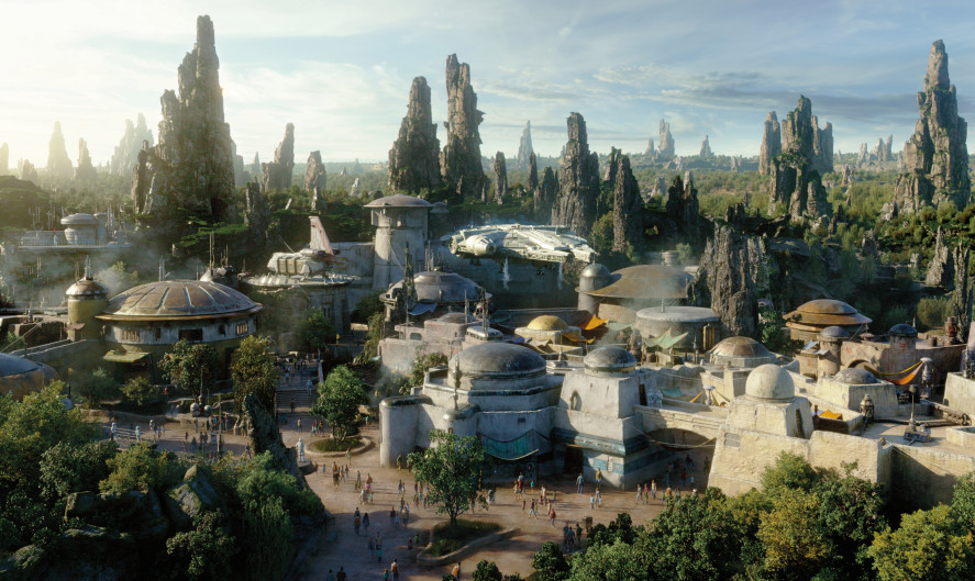 Star Wars: Galaxy's Edge, which depicts the village of Black Spire Outpost on the planet Batuu, will open May 31. (Courtesy of Disney Parks)