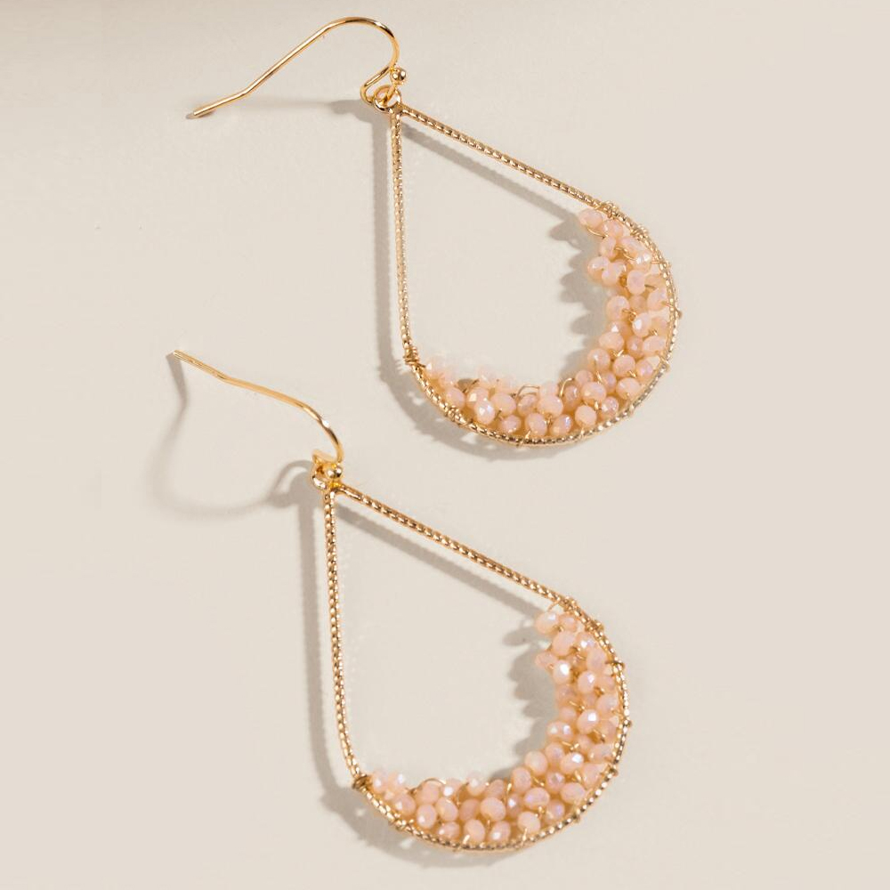 Francesca's Chloe Beaded Teardrop Earrings