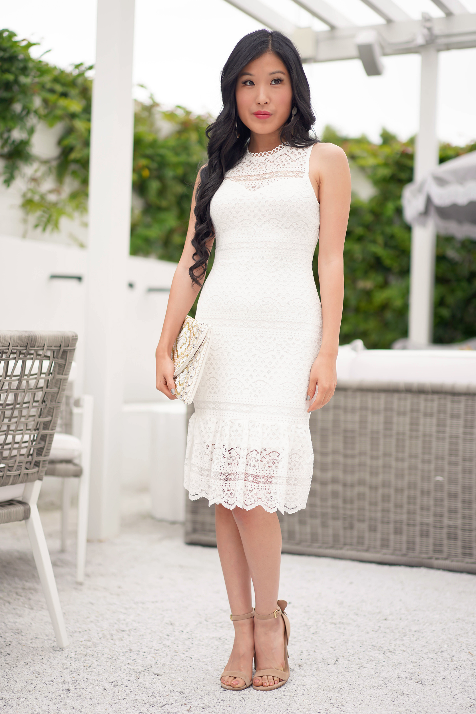 Destiny Ruffled Hem Sheath Dress