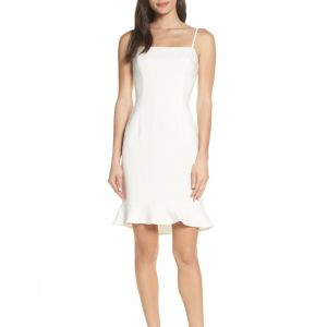 French Connection Whisper White Sweetheart Dress