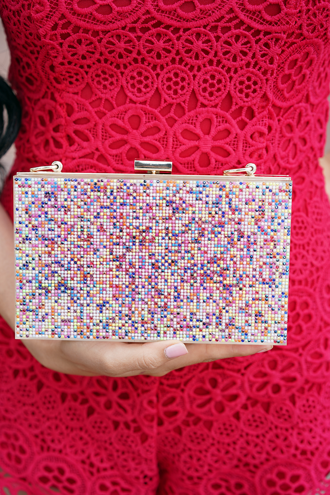 I.N.C. Arielle Rainbow Box Clutch, Created for Macy's