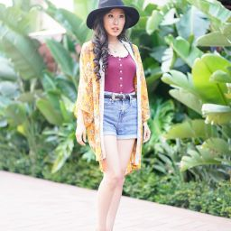 Music Festival Look with Free People Louie Louie Top and Urban Outfitters Western Belt and Wide Brim Fedora