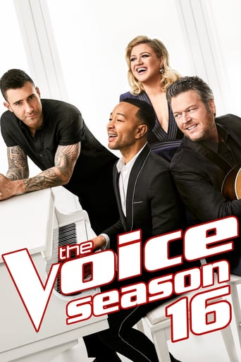 NBC The Voice Season 16 Poster with John Legend, Adam Levine, Kelly Clarkson and Blake Shelton