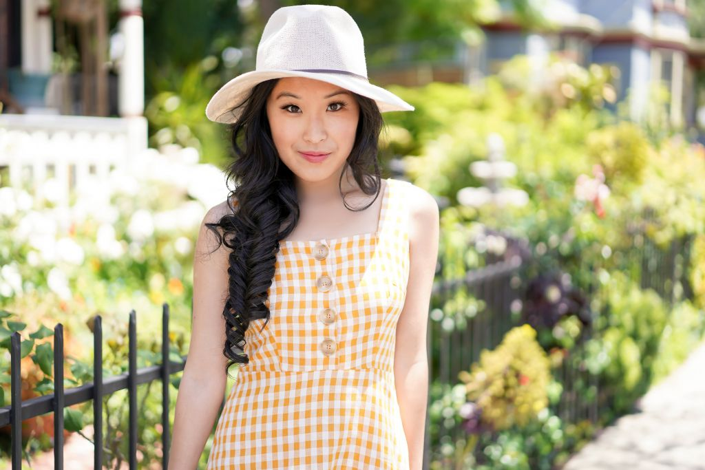 Up Movie Picnic Inspiration Dress - Lush Dollface Mustard Yellow Gingham Print Ruffled Mini Dress sold by Lulus