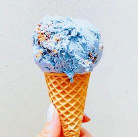 Cocobella Creamery Instagram, Dairy-Free Ice Cream in a cone