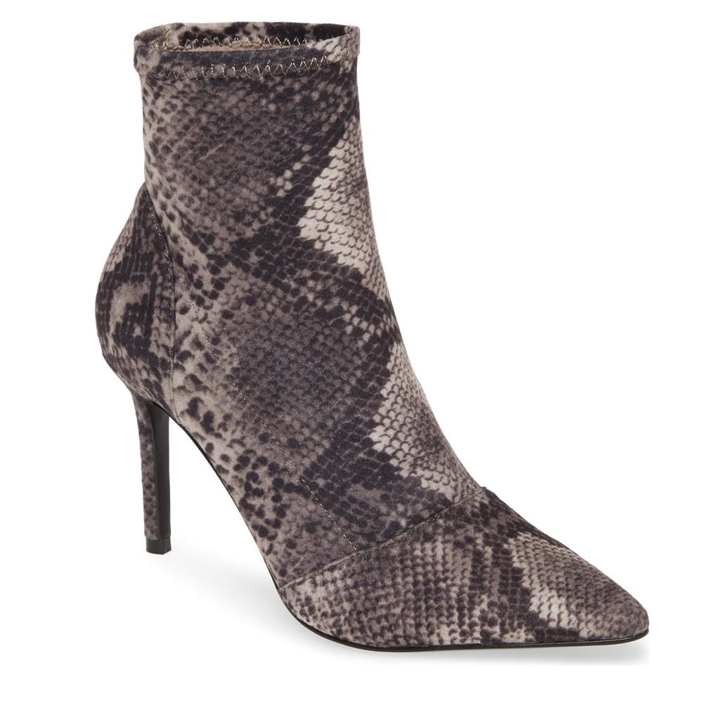 Charles by Charles David Pointed Toe Grey Snake Boot, Nordstrom's Anniversary Sale 2019 Animal Print Trend