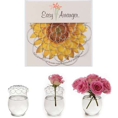 Easy Arranger Flower Vase Arrangements Made Easy, Bendable Reusable 6 inch diameter