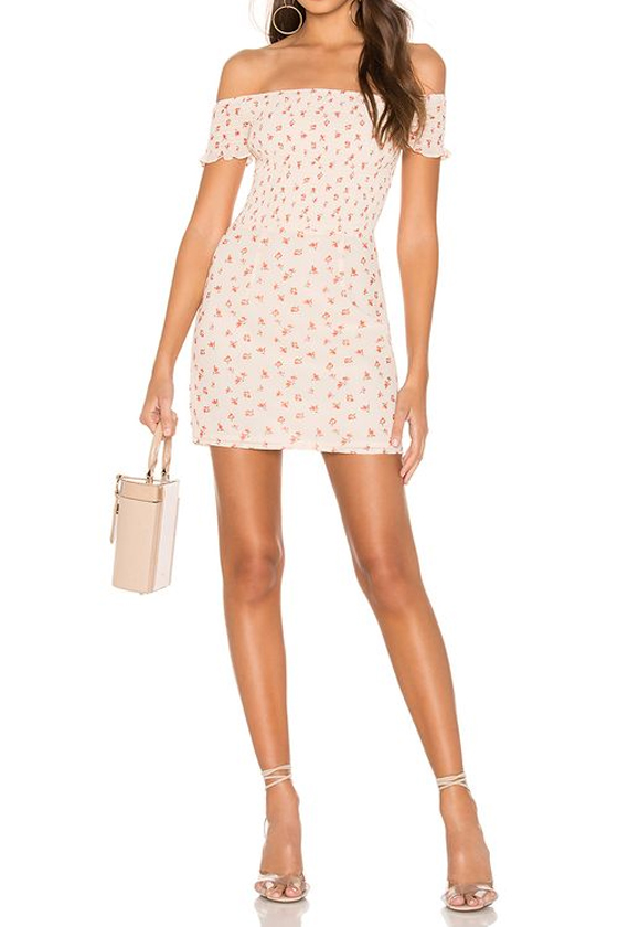 superdown Elisa Floral Smocked Mini Dress
