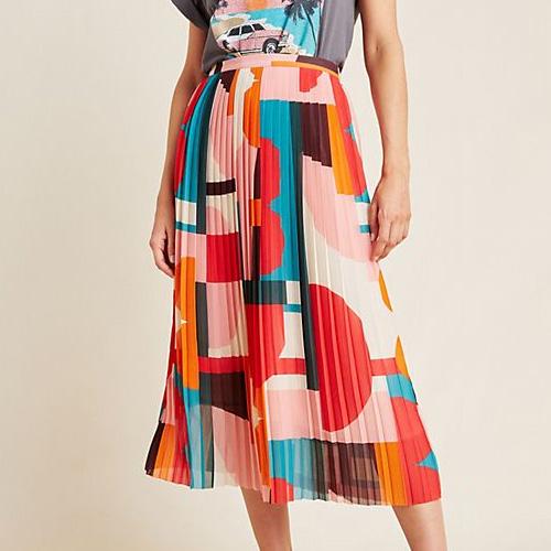 Anthropologie Maeve Aurelia A-Line Midi Skirt
