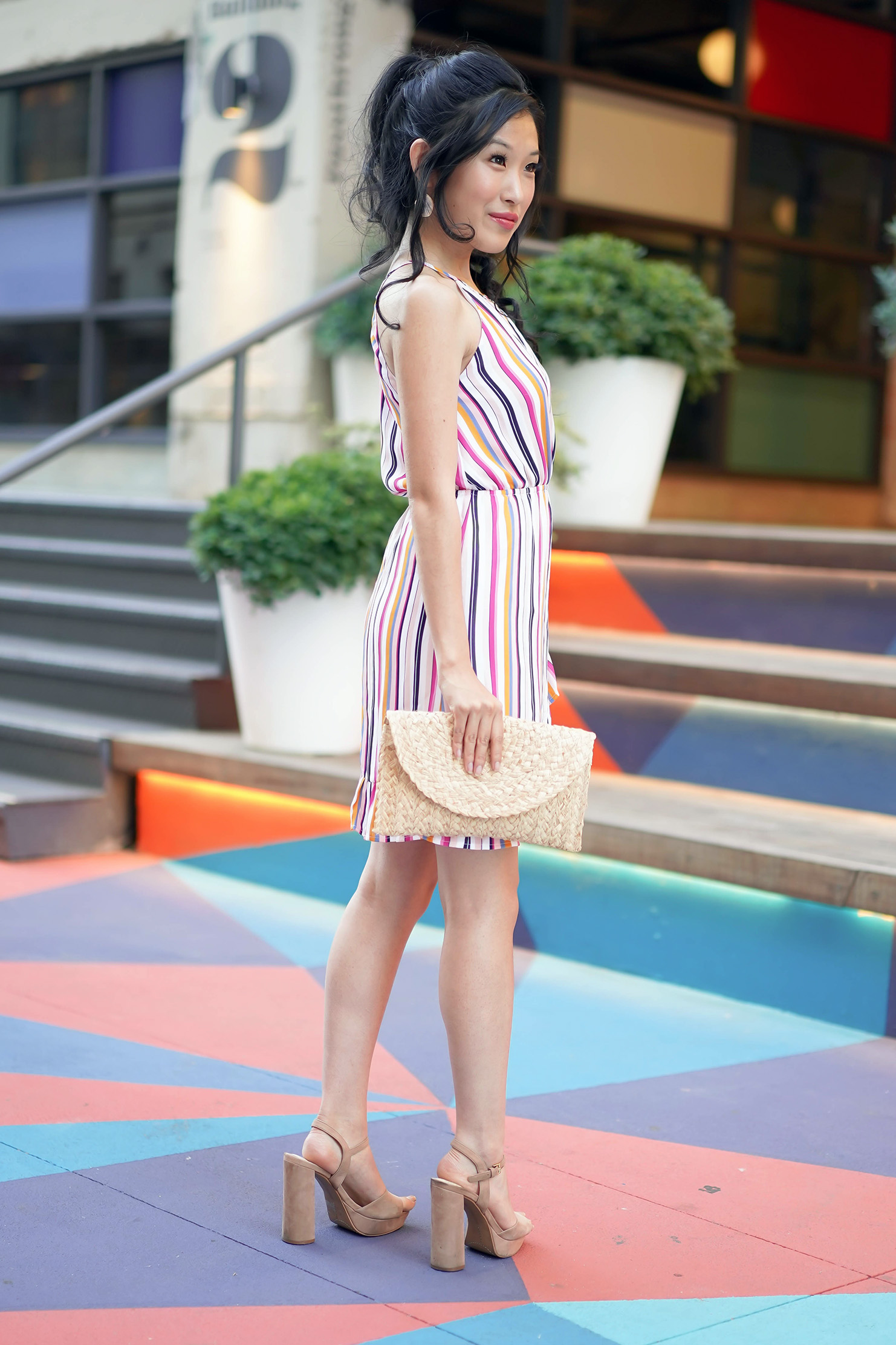 ROW DTLA Francesca's Ballie Stripe Dress