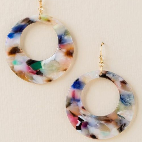 Francesca's Cianna Marbled Resin Earrings