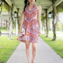 Francesca[s Frannie Scarf Print Shift Dress