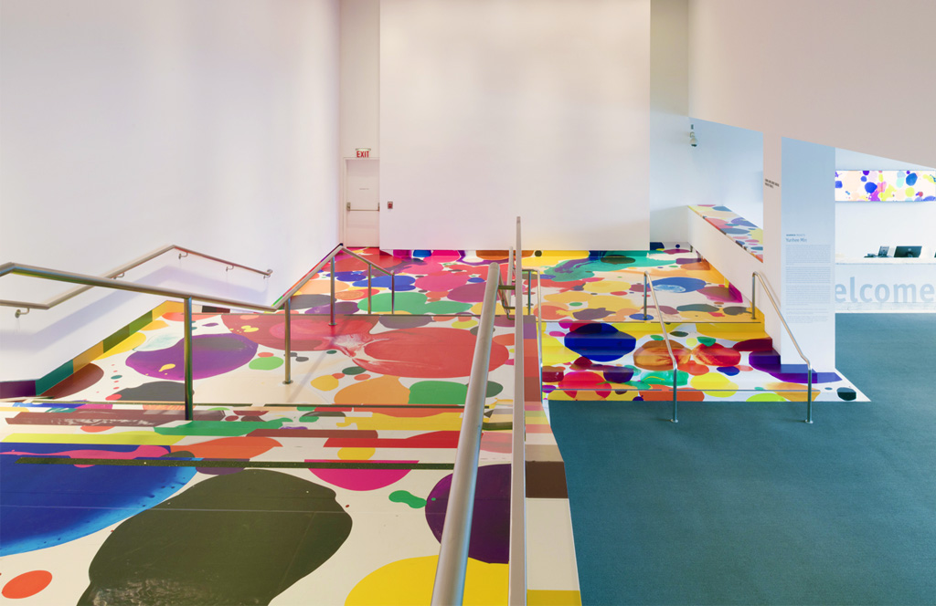Hammer Museum Project: Colorful Lobby Painted Stairs by Yunhee Min