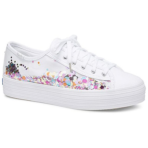 Keds x kate spade new york Triple Kick Confetti, White Multi Sneakers