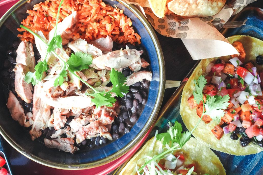 Sol Cocina Gluten Free Tacos and burrito bowl