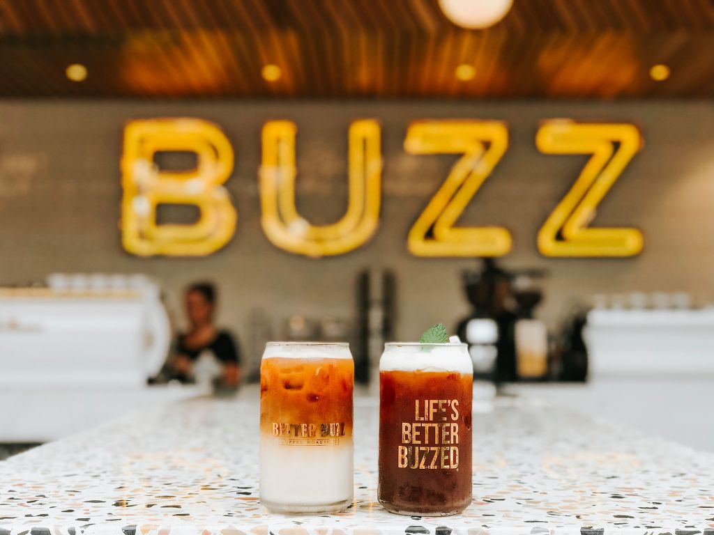 Better Buzz Neon Sign and Cold Brew