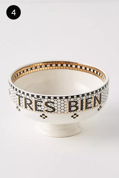 Anthropologie Bistro Tile Nut Bowl in Tres Bien