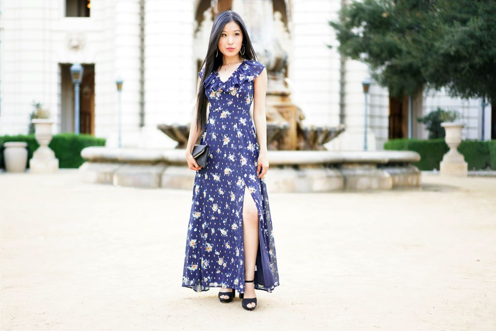 Francesca's Marcie Floral Maxi Dress