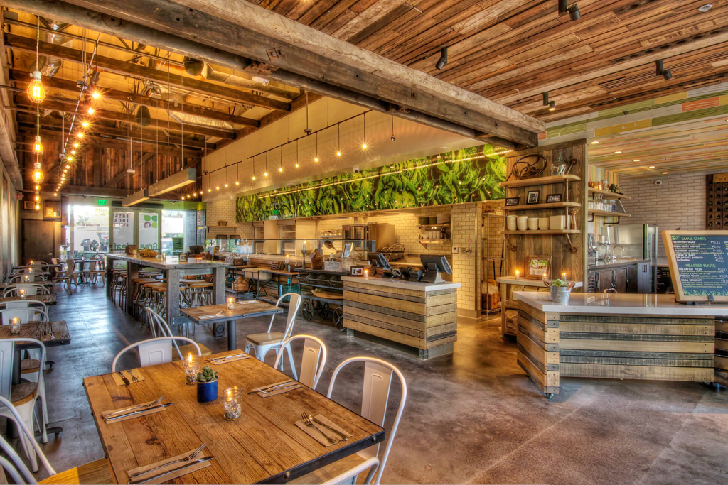 Greenleaf Gourmet Chopshop Healthy Food, SOCO Costa Mesa Location Interior