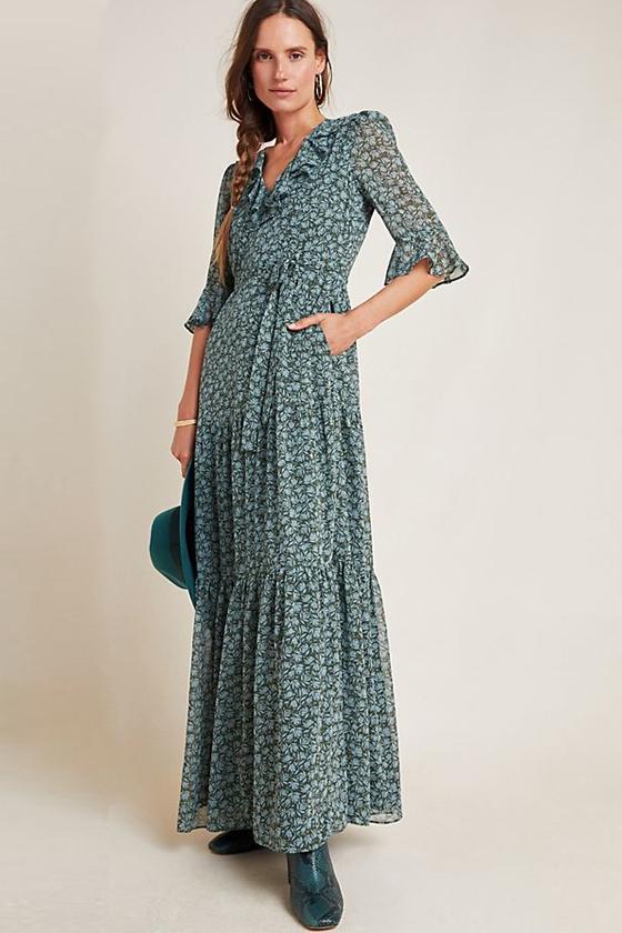 Gal Meets Glam Roberta Ruffled Maxi Dress