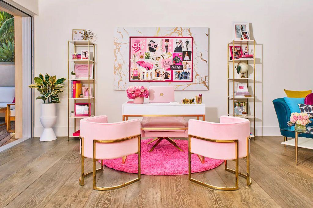 Barbie Malibu Dreamhouse Pink Office Airbnb